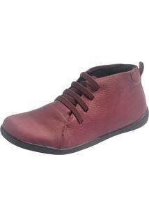 Botinha S2 Shoes Milene Couro Grená