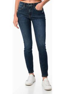 Calça Jeans Five Pockets High Rise Skinny - Azul Marinho - 36