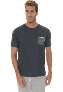 Camiseta Timberland Raglan Printed Pocket Masculina - Masculino-Preto