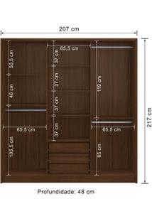 Guarda-Roupa 6 Portas Decibal Rp4630 Cacau Se