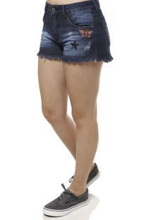 d4e7f658ee Lojas Pompéia. Short Jeans Feminino Azul