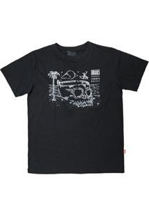 Camiseta Cave Pool Preto - Stonehead