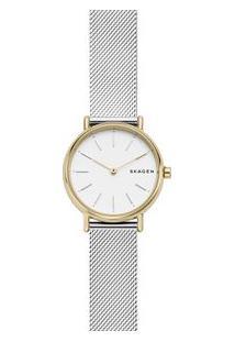 Relógio Skagen Feminino Signatur Dourado Skw2729/1Kn Skw2729/1Kn
