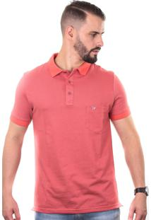 Camisa Polo Cp0709 Coral Traymon Modelagem Slim
