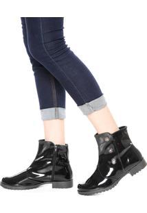 Bota Dafiti Shoes Ilhós Azul-Marinho