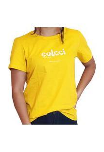 Blusa T-Shirt Colcci Feminina Amarelo Hot Box