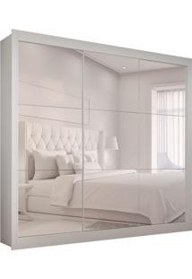 Guarda-Roupa Casal Master Com 3 Espelhos 3 Pt 2 Gv Branco