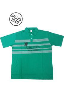 916177d30cae7 ... Camisa Polo Bigmen Plus Size Masculina New York Verde