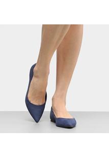 Sapatilha Couro Shoestock Básica Bico Fino Feminina - Feminino