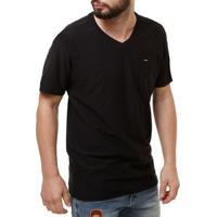 Home Roupas Masculinas Camisetas Algodao Decote V. Camiseta Manga Curta  Masculina Dixie Preto 5aff1f5756529