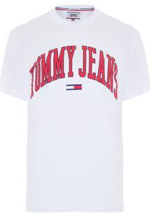 Camiseta Masculina Collegiate Logo - Branco