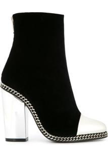 Balmain Ankle Boot 'Dax' De Couro - Preto