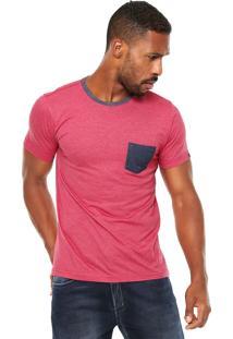 Camiseta Fiveblu Bolso Vermelha/Cinza