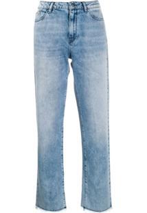 Karl Lagerfeld Calça Reta - Azul