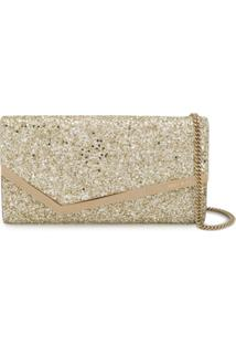 Jimmy Choo Clutch Emmie Com Brilho - Neutro