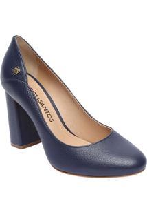 c0620a3335 ... Sapato Tradicional Em Couro Com Recorte Lateral- Azul Maloucos E Santos