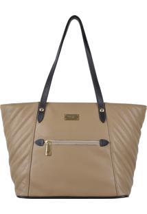 Bolsa Couro Mariart Shopping Bag Matelassê Fendi
