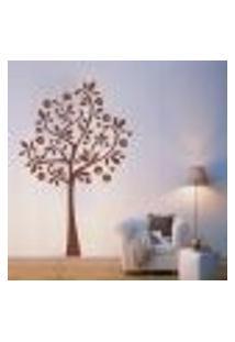 Adesivo De Parede Arvore Com Flores - Eg 139X90Cm