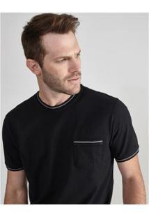 Camiseta Aviator Piquet Bruges Masculina - Masculino-Preto