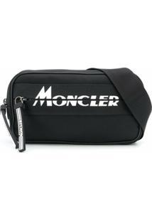 Moncler Pochete Com Estampa De Logo - Preto
