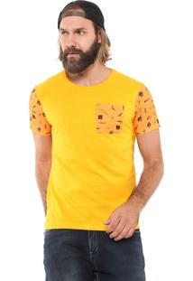 Camiseta Ride Skateboard Space Traveller Amarela