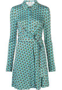 Dvf Diane Von Furstenberg Floral Print Wrap Dress - Azul