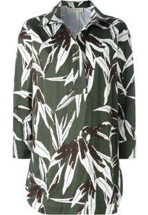 Marni Blusa Com Estampa Bamboo - Verde