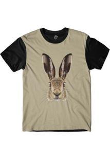 Camiseta Bsc Cara De Coelho Masculina - Masculino-Marrom