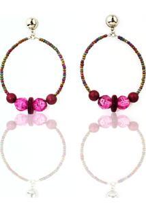 Brinco Luxo Racy Modas Feminino Pink Red Colors