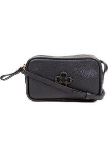 Bolsa Couro Capodarte Mini Bag Relax - Feminino-Preto