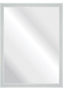 Espelho Branco Riscado 57X77Cm