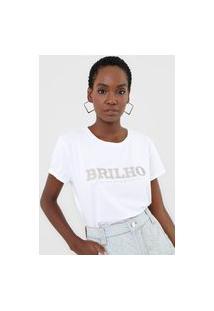 Camiseta Lança Perfume Brilho Branca