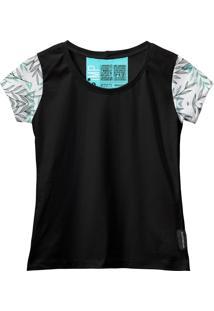 Camiseta Baby Look Feminina Algodão Manga Curta Macia Estilo Branco G Verde