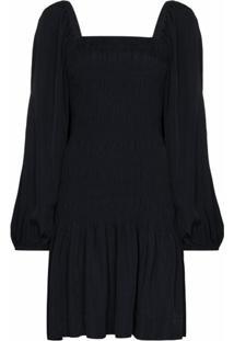 Ganni Vestido Clássico - Azul