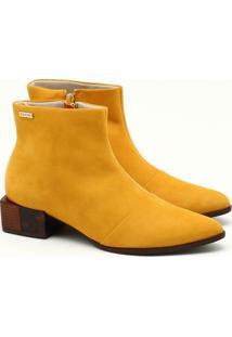 Ankle Boot Nobuck Amarelo Ipê