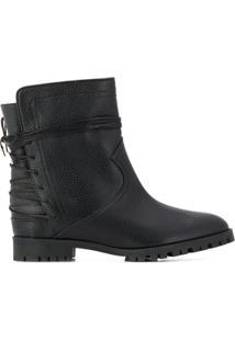 Aquazzura Lace-Up Embellishment Ankle Boots - Preto