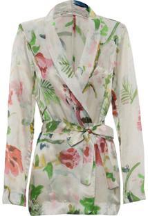 Blazer Kika Simonsen Estampado Floral Off-White