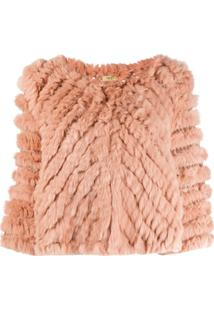 Liu Jo Cropped 3/4 Sleeve Jacket - Rosa