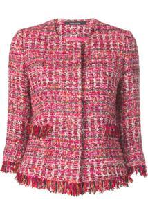Tagliatore Jaqueta De Tweed Cropped - Rosa