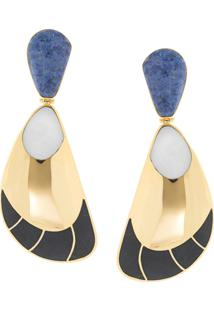 Monica Sordo Garzon Clip Earrings - Dourado