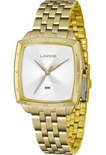 Relógio Lince Lqg620L S1Kx Feminino - Feminino-Dourado