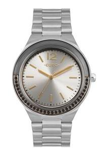 Relógio Euro Feminino Double Face Lux Prata Eu2035Yor/3K Eu2035Yor/3K