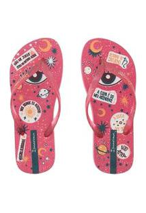 Chinelo Ipanema Trendy Astrologia Rosa