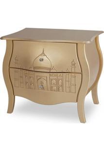 Cômoda Bombê 2 Gavetas Abaulada Taj Mahal - Tommy Design