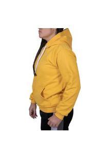 Shimavi Blusa Canguru Amarelo Liso