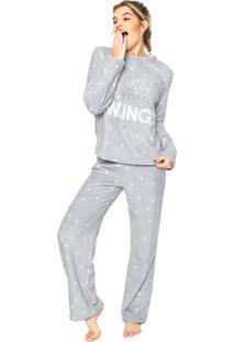Pijama Any Any Soft Wings Cinza