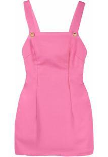 Chiara Ferragni Vestido Decote Quadrado - Rosa