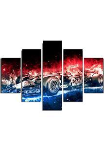 Quadro Painel Mosaico Decorativo 5 Pçs Formula 1