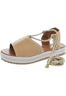 Sandalia Mariha Calçados Flatform Tira - Kanui