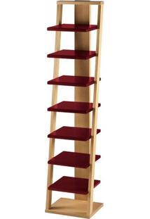 Estante Prateleira Suspensa Stairway Maxima Palha/Bordô